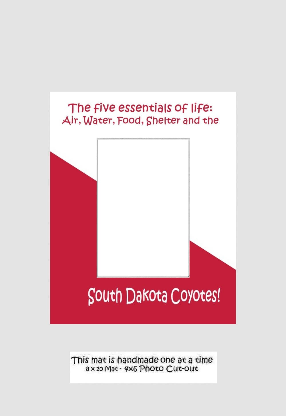 University Of South Dakota Picture Frame Photo Mat Unique