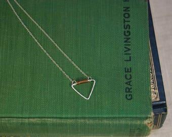 Small Triangle Sterling Silver & Copper Necklace