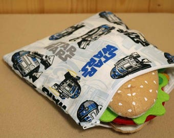 One Sandwich Bag, Reusable Lunch Bags, Waste-Free Lunch, Machine Washable, Star Wars, item #SS154