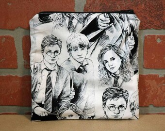 One Sandwich Bag, Reusable Lunch Bags, Waste-Free Lunch, Machine Washable, Harry Potter, Sandwich Sacks, item #SS89