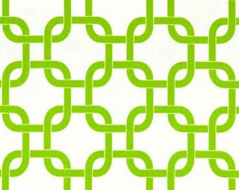 1 yard Premier Prints Gotcha Chartreuse/White