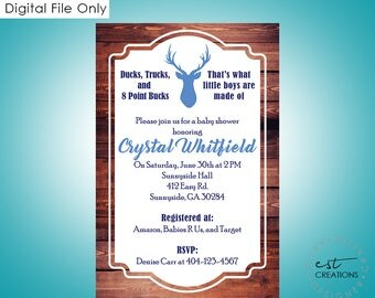 Deer Invitations - Customized to each order