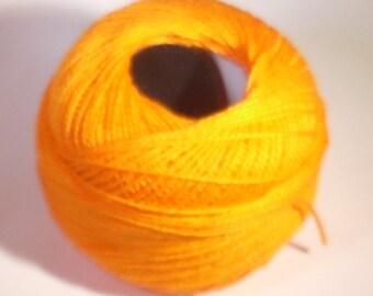 Beaded orange 80 meters cotton reel