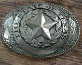 State of Texas Buckle Tony Lama State Buckle Texas Belt Buckle Brass Belt Buckle