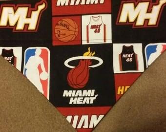 SALE! Miami Heat Dog Bandana!!