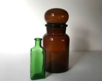 "9"" Apothecary Bottle made in Belgium"