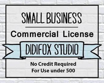 L0001 - DidiFox Studio Extended Commercial License. Limited Small Business. No Credit Required - single user/set.