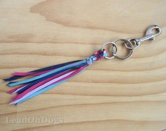 T-six-10 Key Ring Braided with Kangaroo Leather - The T-six-10 Key Ring