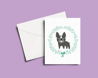 Black Frenchie Greeting Card