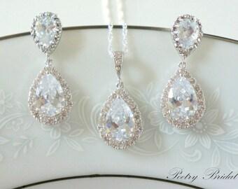 Weddings Crystal Bridal Earrings Jewelry SET Wedding For Brides
