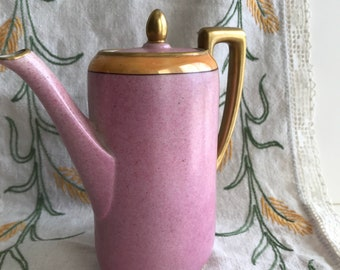 Vintage Beautiful Small Pink and Gold Noritake Tea Pot