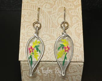 Teardrop Floral Earrings