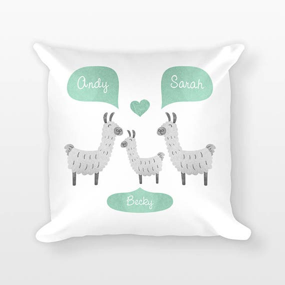 Llama Nursery Pillow Nursery Decor, Unique Personalized Baby Gift, Baby Shower Gift, Pillow for Kids Room Decor, Animal Nursery Throw Pillow