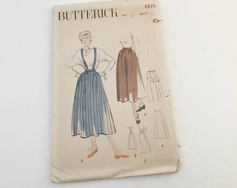 Butterick Skirt, Butterick 4929, Vintage Skirt, Vintage Pattern, 1940s pattern, Maternity Skirt, Suspender pattern, Size 12 skirt