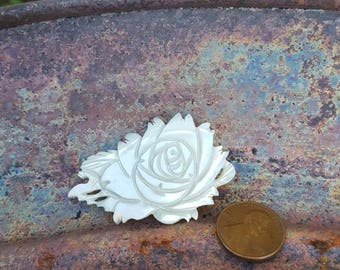 Vintage Mother of Pearl Rose Pin