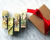HOLIDAY SOAP SET, Four Hand & Body Vegan Cold Process Soaps
