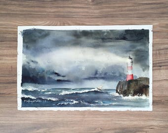 Port in the Storm - Original Watercolor Painting