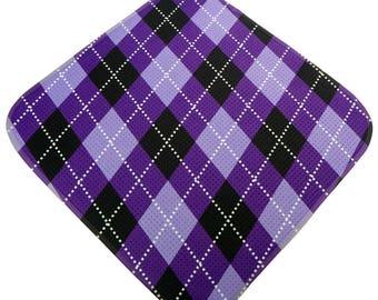 Women's Golf Gift Purple Argyle Golf Towel Ladies Golf Accessories