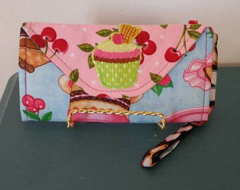 Cupcake/Cherries Wallet