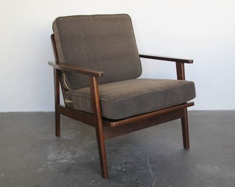 danish wooden lounge chair mid century modern arm lounge chair vintage armchair
