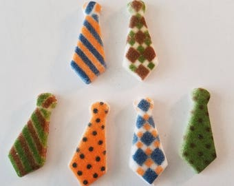 Mini ties - cupcake or cake topper decortions