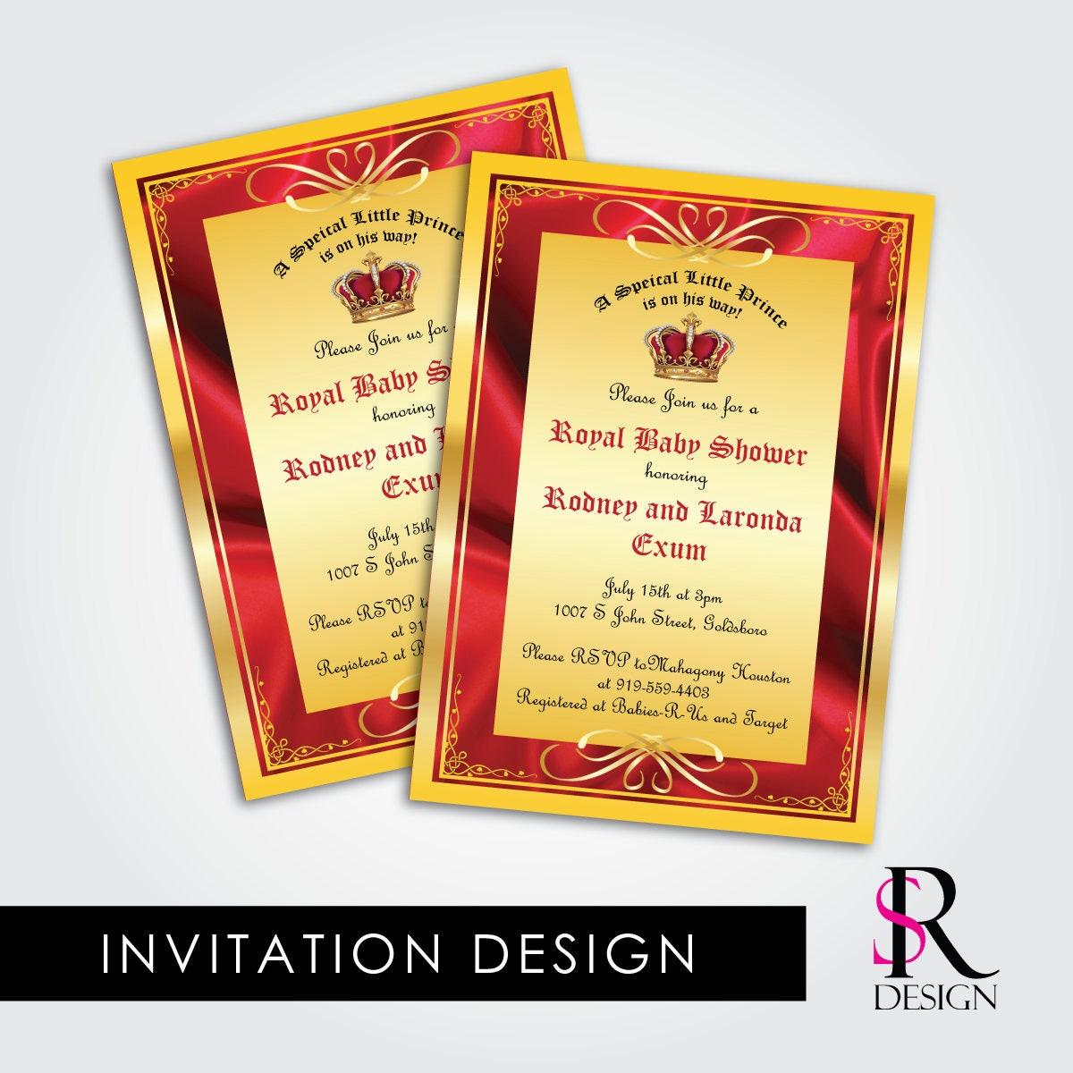 Royal Baby Shower Invitation Prince Birthday Invitation – Prince Birthday Invitation