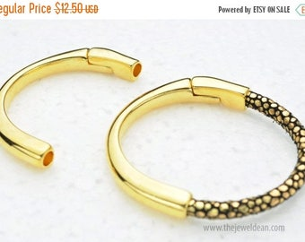 25% OFF 5MM Round Magnetic Half Cuff - Gold - For Use With up to 5MM Round Cords - 5Mm Round Leather Cord -  Qty. 1