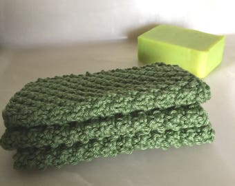 Green Cotton Spa Cloths