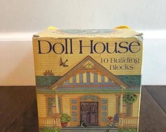 Vintage Dollhouse Building Blocks Toys