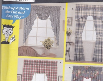 Simpicity 9869 Vintage Pattern Home Decor Valance Pattern in 4 Variations UNCUT