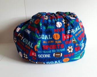 Child's Bean Bag Chair with sport's theme