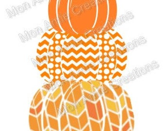 Pumpkin Stack Fall SVG Pumpkin SVG Digital Cutting File Halloween Fall Thanksgiving Cricut Silhouette