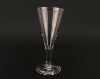 Champagne Flute Blown Glass Wine Ale Tall Antique English Georgian Early 1800s