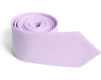 Dusty Lavender Texture Tie  Men's skinny tie Wedding Ties  Necktie for Men FREE GIFT