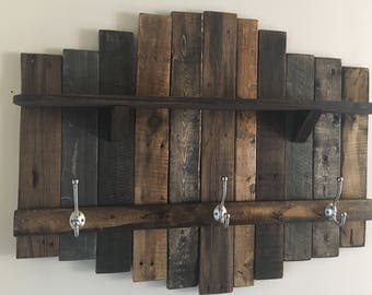 Rustic Pallet Coatrack With Shelf - Ready to Ship!