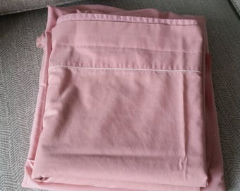 Full Size Rose Pink Percale Flat & Fitted Sheet Set