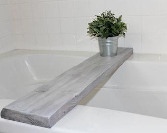 Bath Tray | FARMHOUSE BATH DECOR | Bathtub Board | Farmhouse Bath Tray | Bathtub Tray | Farmhouse Decor | Farmhouse Furniture | Bath Decor |