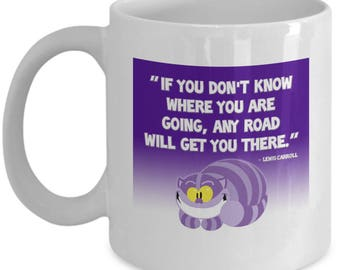 Cheshire Cat Any Road Alice in Wonderland Gift Mug Coffee Cup Disney