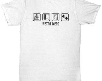 Retro Nerd Atari Nintendo Controller Shirt Gamer Gift Geek Dork Nerdy