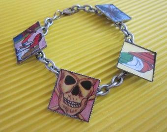 Loteria Bracelet-/ Birthday / Halloween / Dia De Los Muertos / Bracelet