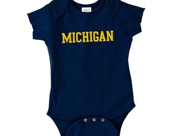 Michigan Wolverines Basic Block Creeper