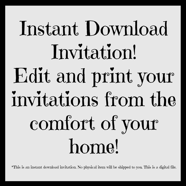 Cowgirl Birthday Invitation - Editable Cowgirl Birthday Party ...