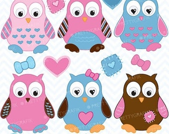 80% OFF SALE Owl clipart commercial use, vector graphics, digital clip art, digital images  - CL373