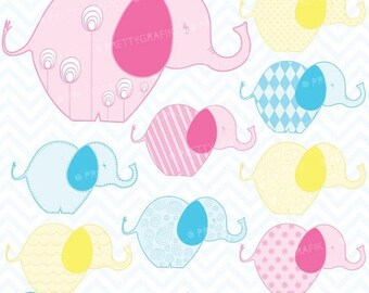 80% OFF SALE elephant clipart commercial use, vector graphics, digital clip art, digital images  - CL375
