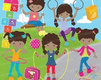 80% OFF SALE Recess kids clipart commercial use, vector graphics, digital clip art, digital images - CL677