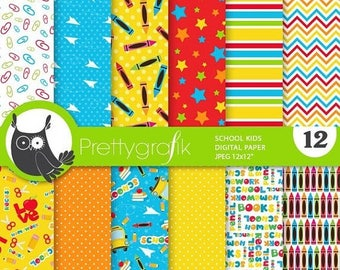 80% OFF SALE Back to school digital paper, commercial use,  scrapbook papers,  background, sports - PS872
