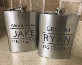 Wedding Flasks, Groomsman gifts