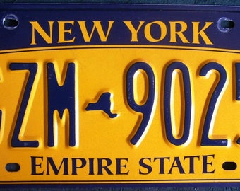 NEW YORK License Plate GZM9025 American Licence Number Plate
