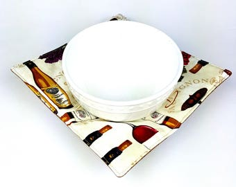 Wine Bar - MicroBowl Hot Pad (REVERSIBLE) - Large and Medium