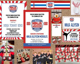 AMERICAN NINJA WARRIOR // Birthday + Baby + Bridal Shower + Retirement Invitation // Full Service Printing + Coordinating Items